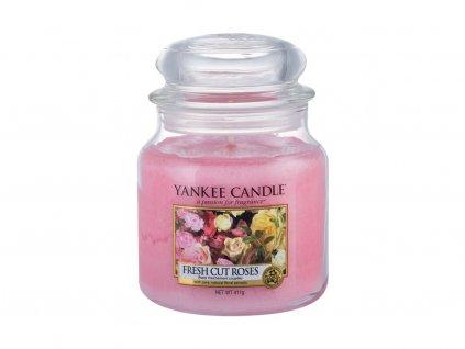 Yankee Candle Fresh Cut Roses - vonná svíčka