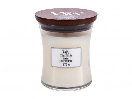 WoodWick Linen - vonná svíčka