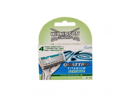 Wilkinson Sword Quattro Titanium Sensitive - náhradní břit