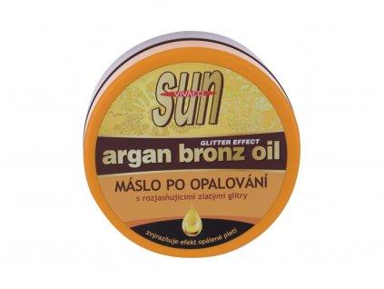 Vivaco Sun Argan Bronz Oil - přípravek po opalování Glitter Aftersun Butter
