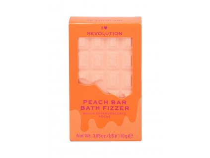 Makeup Revolution London I Heart Revolution Chocolate Bar Bath Fizzer - (Peach) pěna do koupele
