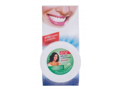 Eva Cosmetics Whitening Pen - bělící zubní pero 5 ml + bělící zubní pudr 25 g Mentol