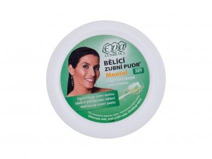 Eva Cosmetics Whitening Toothpowder Mentol - bělení zubů 3in1