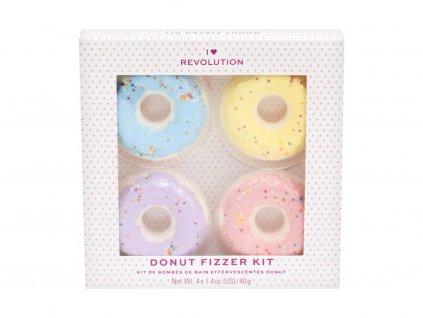 I Heart Revolution Bath Fizzer Donut - (Blueberry) koupelová bomba 40 g + koupelová bomba 40 g Lavender + koupelová bomba 40 g Banana + koupelová bomba 40 g Strawberry