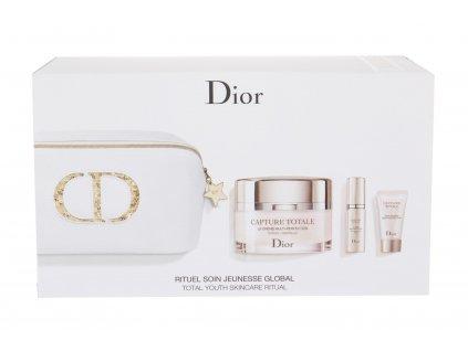 Christian Dior Capture Totale - denní pleťová péče 60 ml + pleťové sérum Multi-Perfection 7 ml + krém na oční okolí Multi-Perfection 5 ml + kosmetická taška