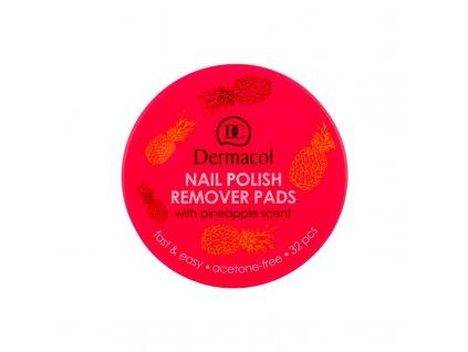Dermacol Nail Polish Remover Pads - odlakovač nehtů