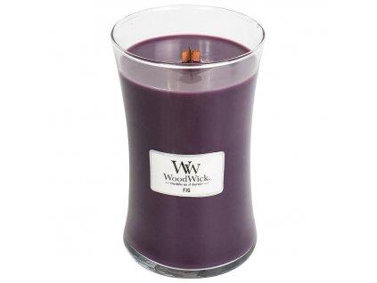 WoodWick Fig - vonná svíčka střední