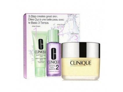 Clinique KOSMETIKA 3step Skin Care System2 - Liquid Facial Soap 30 ml + Clarifying Lotion 2 30 ml + Dramatically Different Moisturizing Cream 125 ml dárková sada