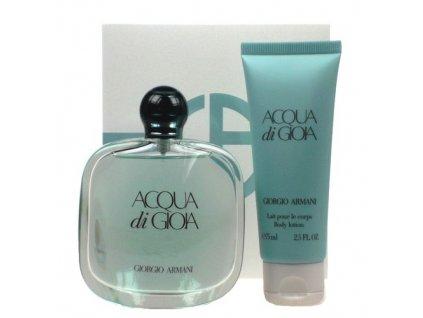 Giorgio Armani Acqua di Gioia - parfémová voda 100 ml + tělové mléko 75 ml dárková sada