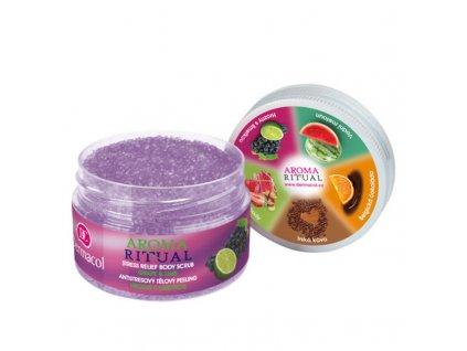 Dermacol Antistresový tělový peeling hrozny s limetkou Aroma Ritual