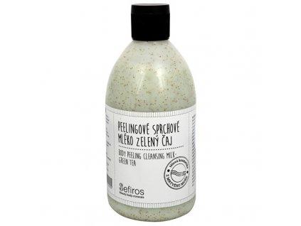 Sefiros Body Peeling Cleansing Milk - Peelingové sprchové mléko Zelený čaj