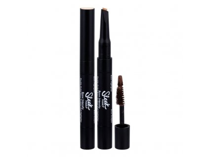 Sleek MakeUP Brow Intensity - (217 Dark) set a paletka na obočí