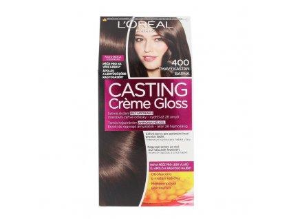 LOREAL Casting Creme Gloss - (400 Dark Brown) barva na vlasy