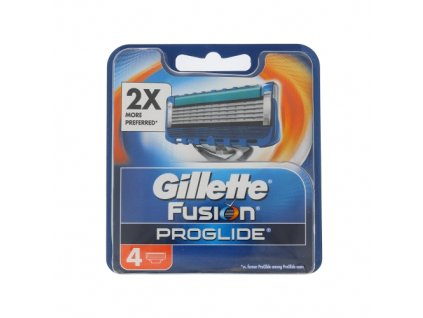 Gillette Fusion Proglide - náhradní břit pro muže 4 ks