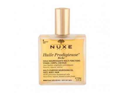 NUXE Huile Prodigieuse Riche Multi Purpose Dry Oil Face, Body, Hair - tělový olej