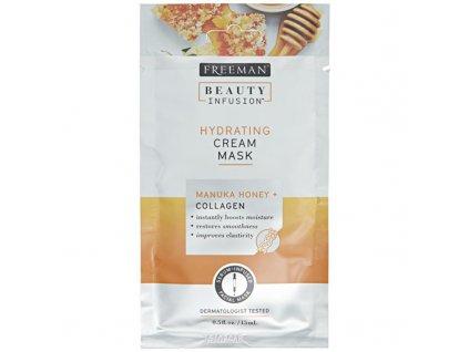 Freeman  Hydratační krémová maska Manukový med a kolagen Beauty Infusion - (Hydrating Cream Mask)