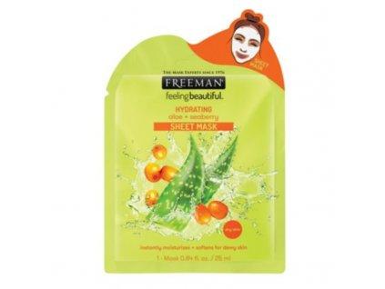 Freeman  Hydratační látková maska Aloe vera a rakytník - (Hydrating Sheet Mask)