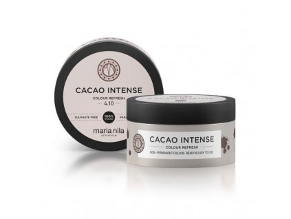 Maria Nila Jemná vyživující maska bez permanentních barevných pigmentů Cacao Intense - (Colour Refresh Mask)