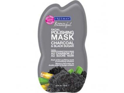 Freeman  Peelingová maska s uhlím a cukrem - (Facial Polishing Mask Charcoal & Black Sugar)