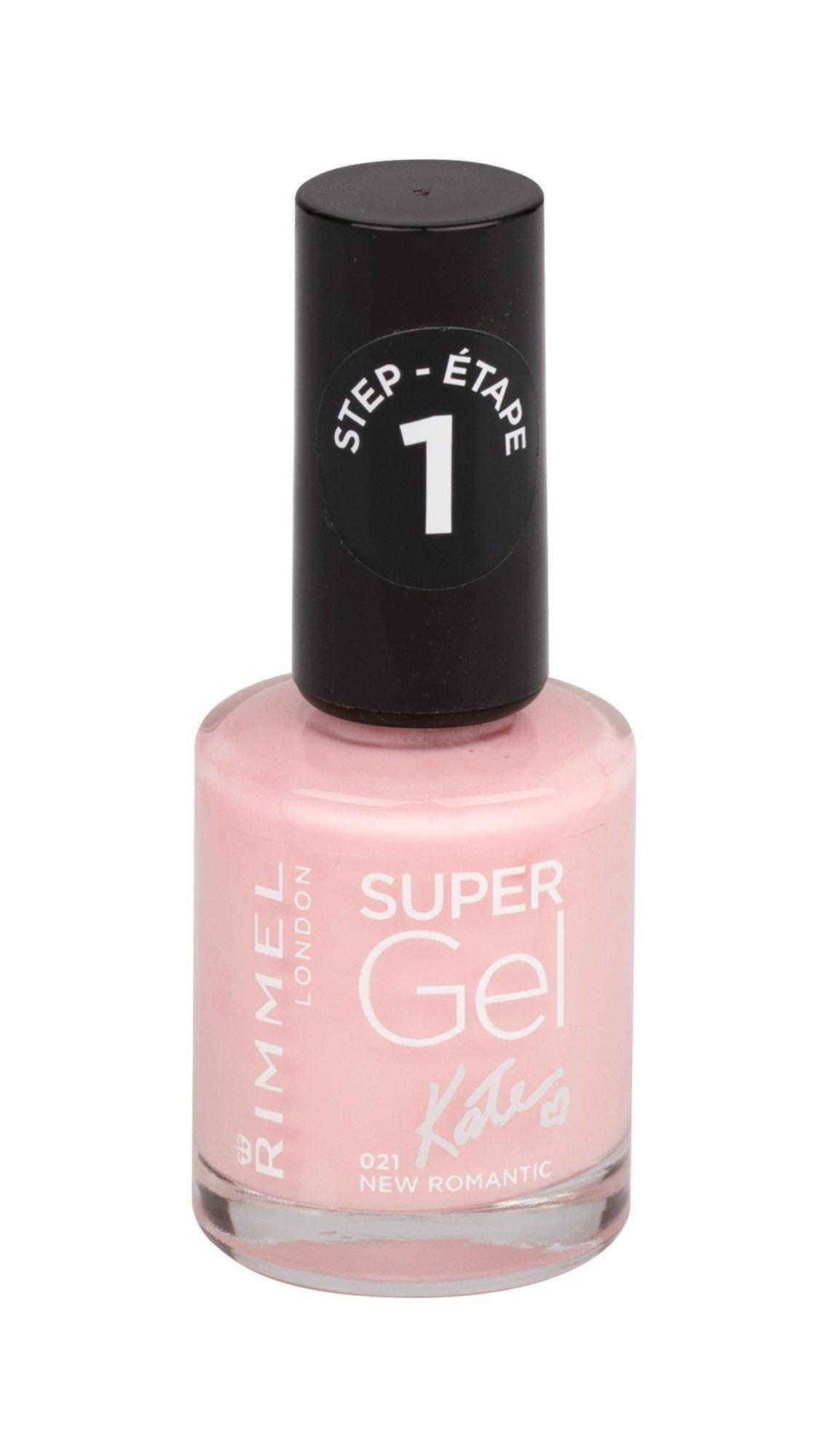 Rimmel London Super Gel By Kate STEP1 - (021 New Romantic) lak na nehty W Objem: 12 ml