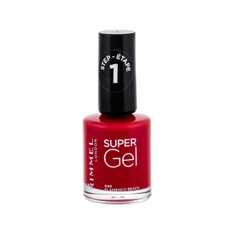 Rimmel London Super Gel STEP1 - (045 Flamenco Beach) lak na nehty W Objem: 12 ml