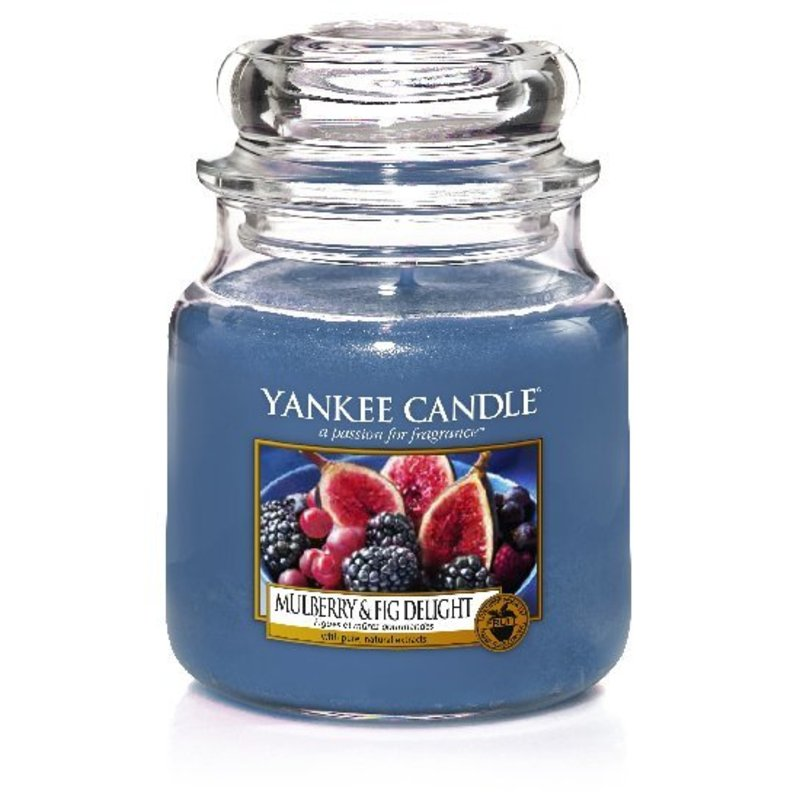 Levně Yankee Candle Vonná svíčka Classic střední Mulberry & Fig Delight UNI Objem: 411 ml