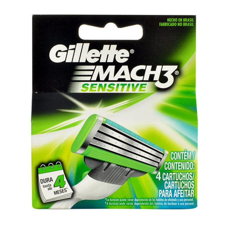 Gillette Mach3 Sensitive - náhradní břit M Objem: 4 ml