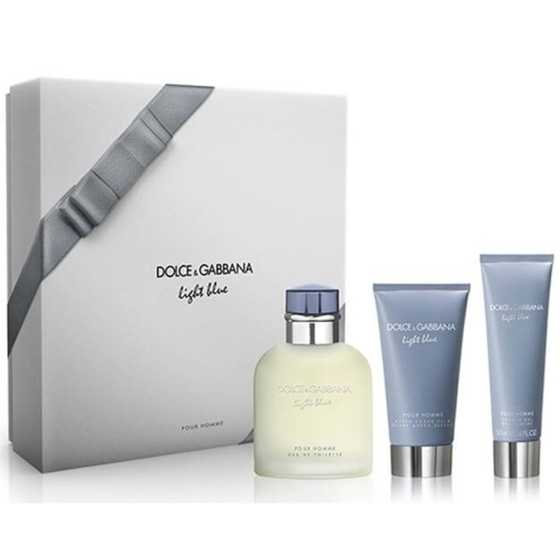 Dolce & Gabbana Light Blue Pour Homme - EDT 125 ml + balzám po holení 75 ml + sprchový gel M Objem: 50 ml