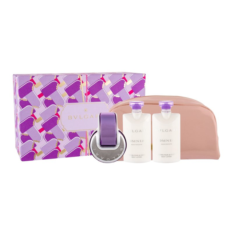 Bvlgari Omnia Amethyste - toaletní voda 65 ml + tělové mléko 2x 75 ml + kosmetická taška W Objem: 65 ml
