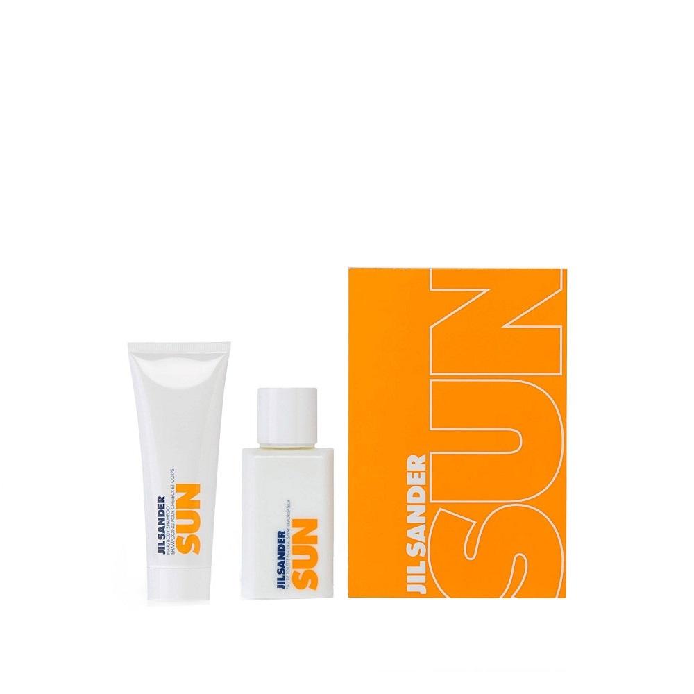 Jil Sander Sun - toaletní voda 75 ml + sprchový gel 75 ml dárková sada W Objem: 75 ml
