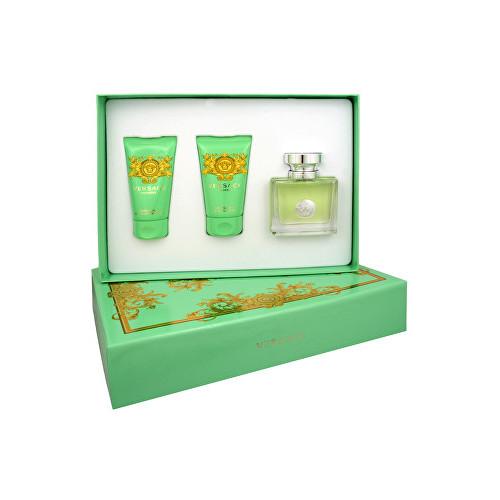 Levně Versace Versense - toaletní voda 50 ml + tělové mléko 50 ml + sprchový gel 50 ml dárková sada W Objem: 50 ml
