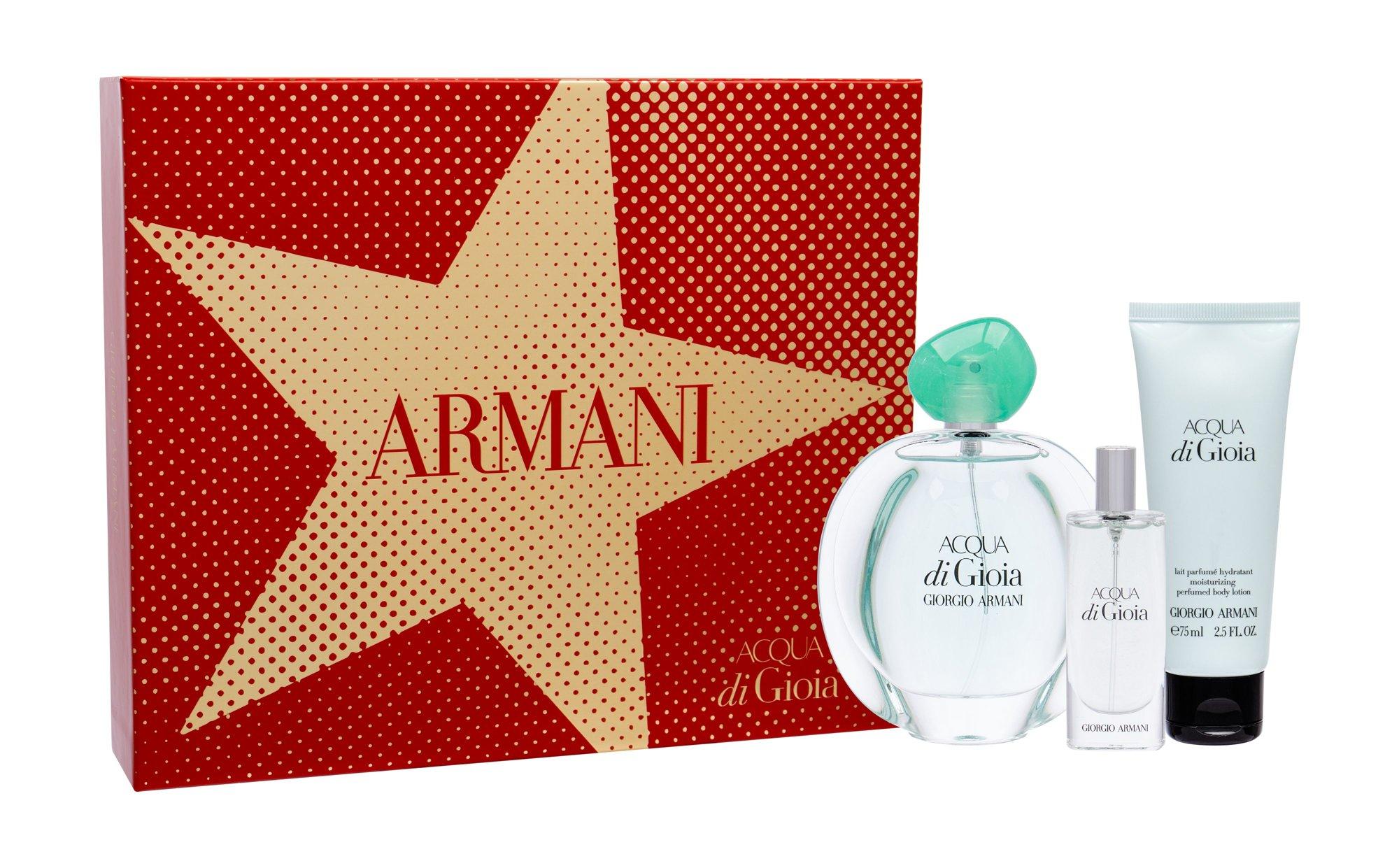 Giorgio Armani Acqua di Gioia - parfémová voda 100 ml + tělové mléko 75 ml + parfémová voda 15 ml W Objem: 100 ml