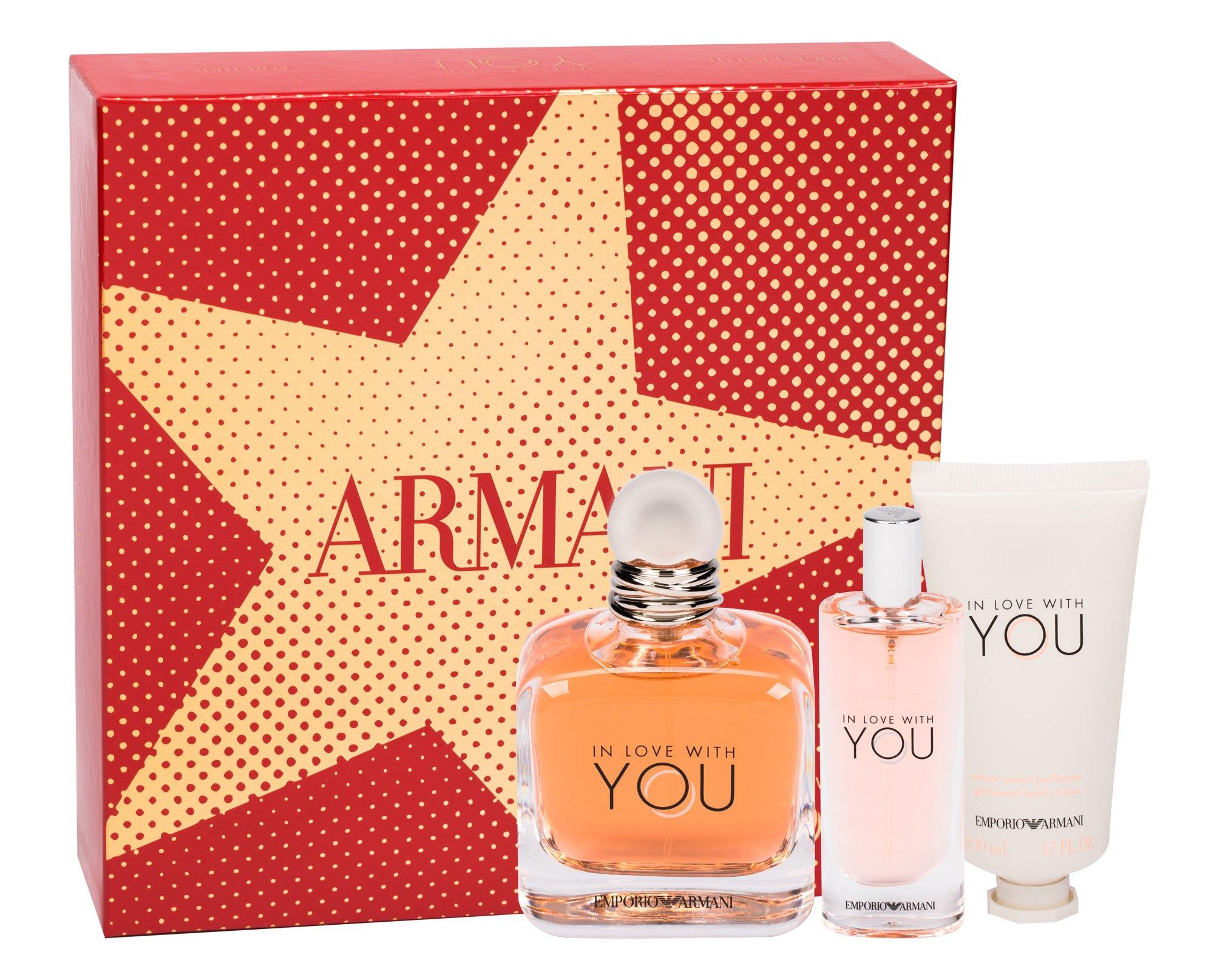 Giorgio Armani Emporio Armani In Love With You - parfémová voda 100 ml + parfémová voda 15 ml + krém na ruce 50 ml W Objem: 100 ml
