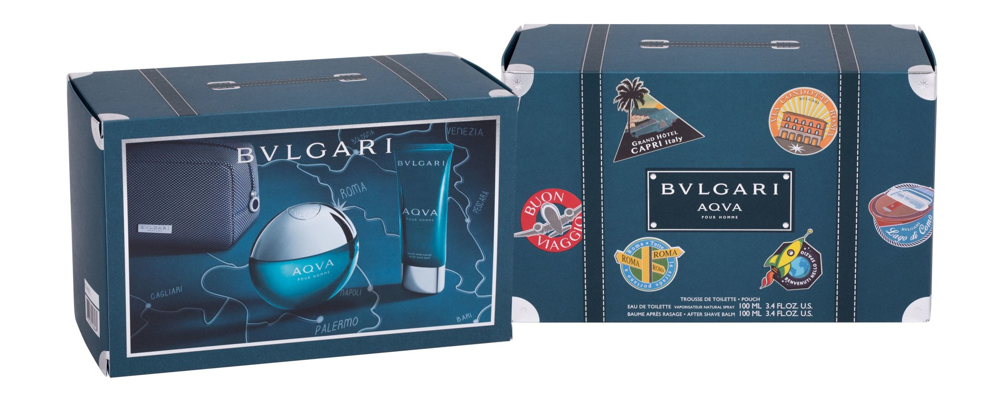 Bvlgari Aqva Pour Homme - toaletní voda 100 ml + balzám po holení 100 ml + kosmetická taštička M Objem: 100 ml