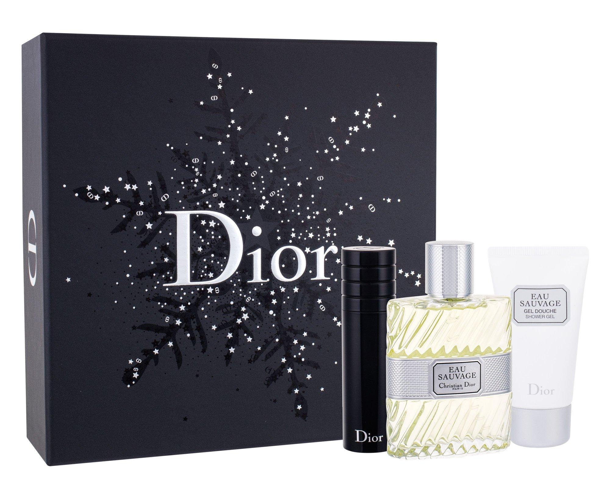 Christian Dior Eau Sauvage - toaletní voda 100 ml + sprchový gel 50 ml + toaletní voda naplnitelná 10 ml M Objem: 100 ml