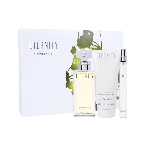 Calvin Klein Eternity Woman - parfémová voda 100 ml + tělové mléko 200 ml + parfémová voda 10 ml W O