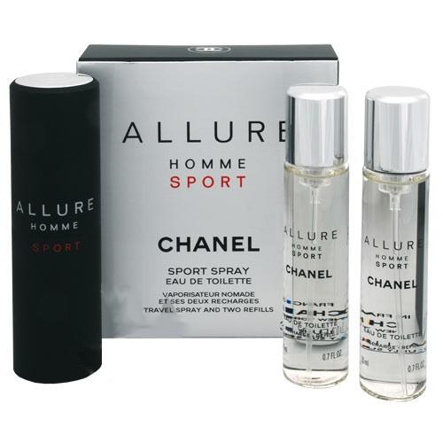 Chanel Allure Homme Sport - toaletní voda 3*20ml M Objem: 3*20 ml