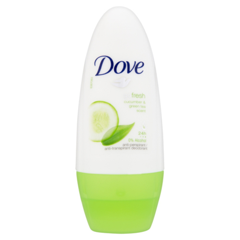 Dove Antiperspirant roll-on Go Fresh s vůní okurky a zeleného čaje Objem: 50 ml