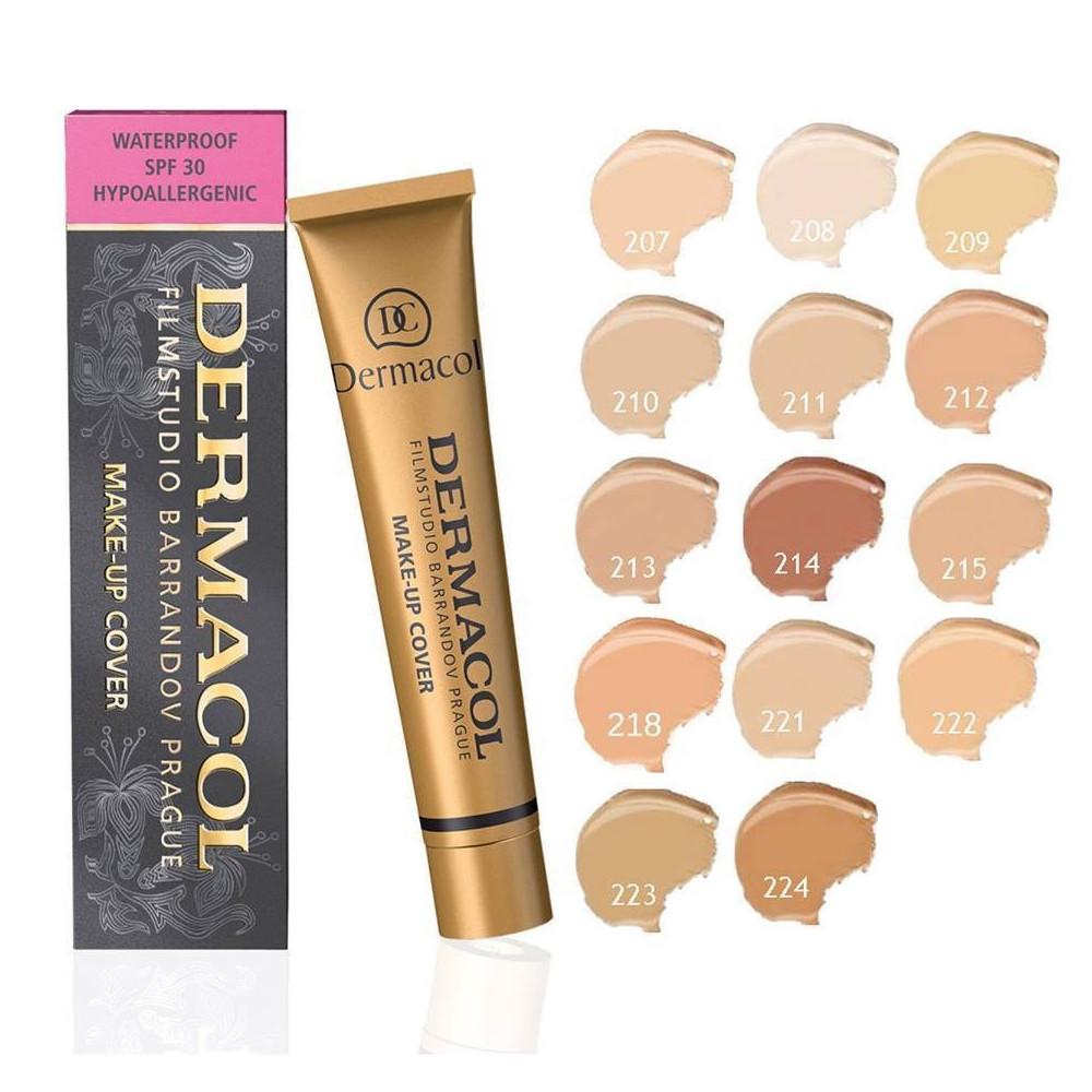 Dermacol Dermacol Cover make-up - 207 - make up pro jasnou a sjednocenou pleť W Objem: 30g ml