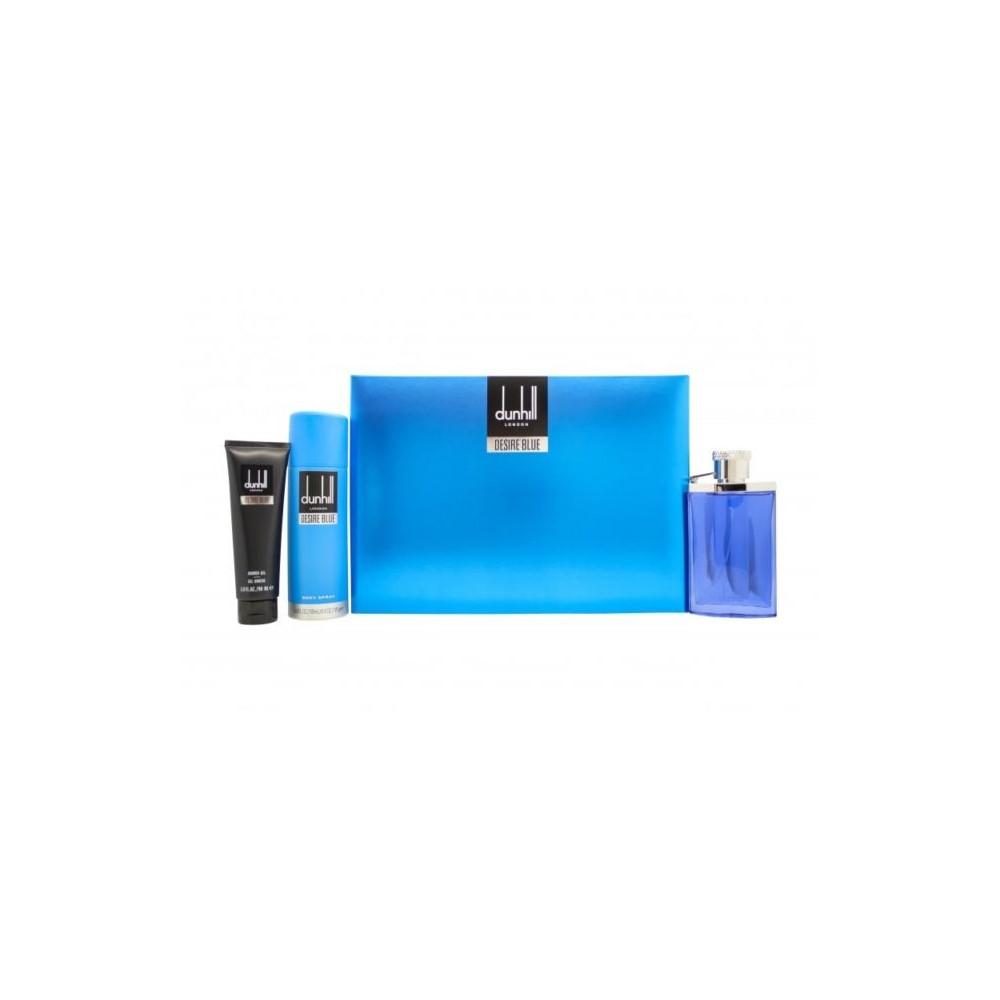 Dunhill Desire Blue - toaletní voda 100 ml+ sprchový gel 90 ml + deospray 195 ml dárková sada M Objem: 100 ml