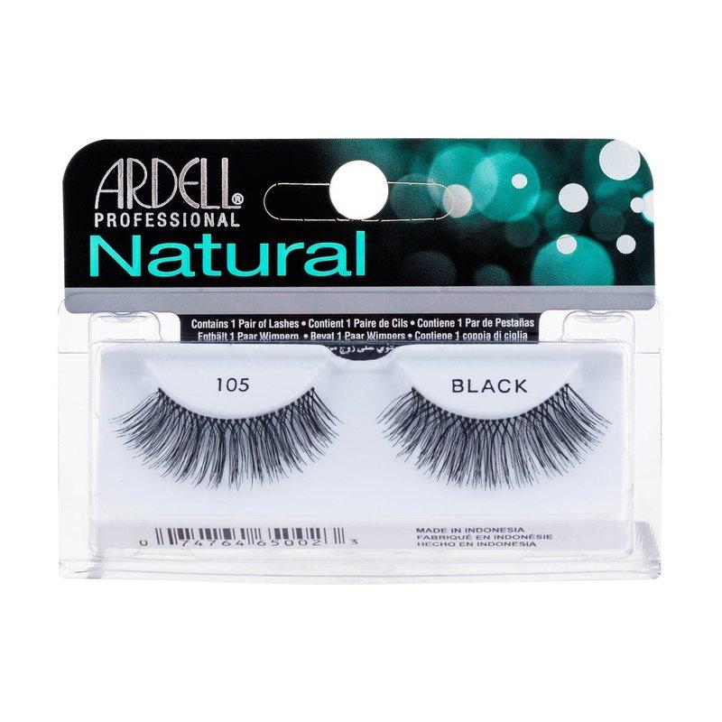 Levně Ardell Natural 105 - (Black) umělé řasy W Objem: 1 ml