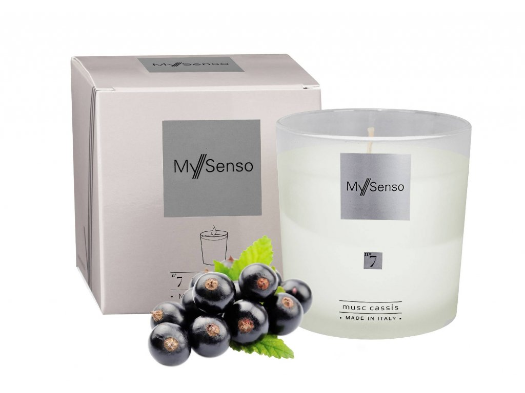 Perfumed candle N°7 Musc Cassis