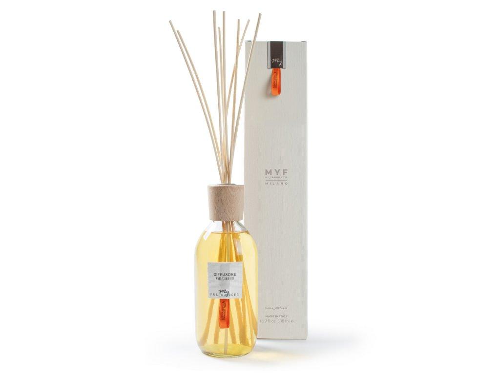 MYF - Classic aroma difuzér Cinnnamon & Orange Fruit (Skořice a pomeranč), 500ml
