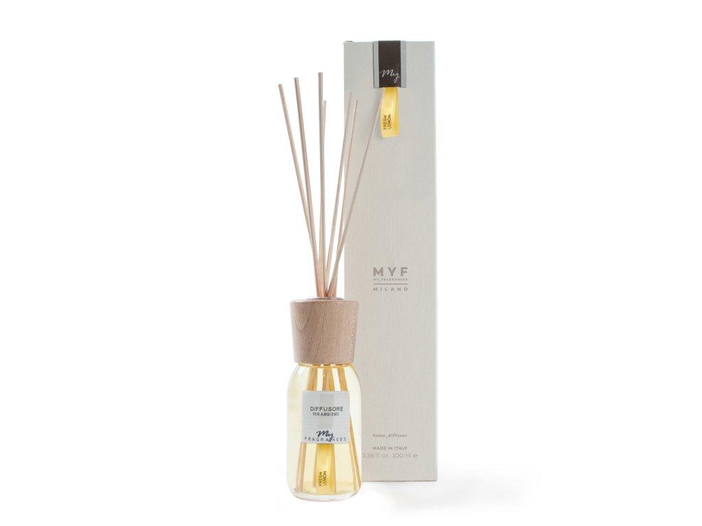 MYF - Classic aroma difuzér Fresh Lemon (Citrón, sporýš, bergamot a jasmín), 100ml