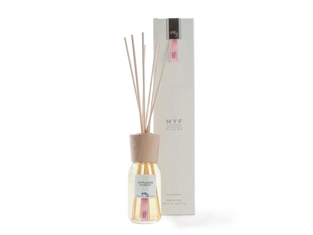 MYF - Classic aroma difuzér Sweet Peonia (Pivoňka a egyptský jasmín), 100ml