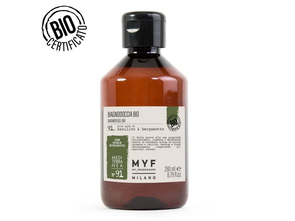 MYF - Sprchový gel 260ml Bazalka & Bergamot Bio certifikát