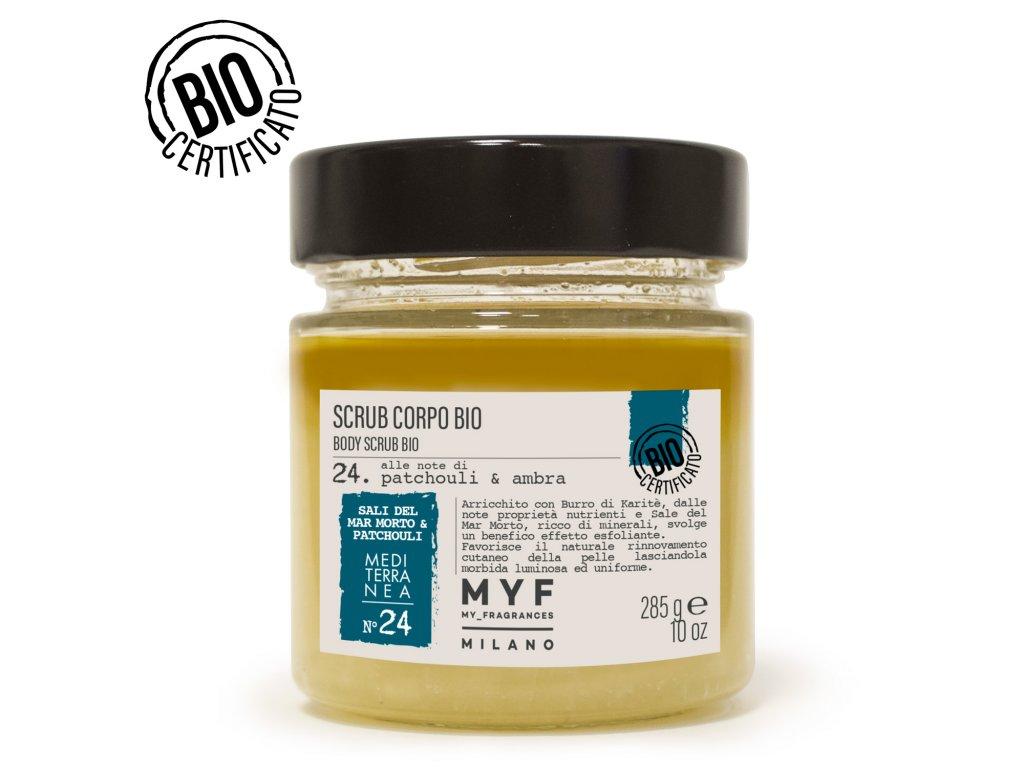 MYF - Tělový peeling 285g Pačuli & Jantar Bio certifikát