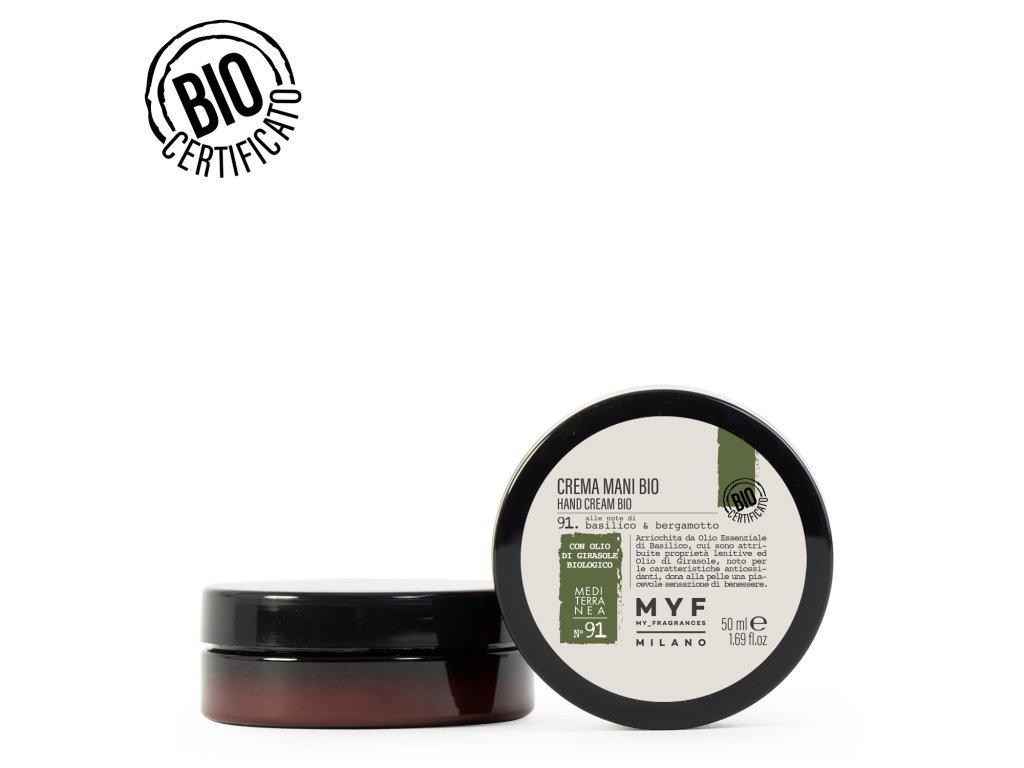 Krém na ruce 50ml Bazalka & Bergamot Bio certifikát