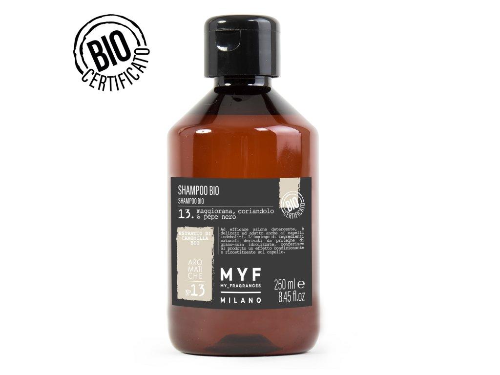 Šampon 250ml Majoránka, Koriandr & Černý pepř Bio certifikát