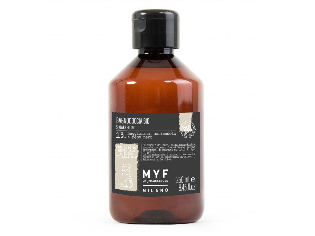 MYF - Sprchový gel 250ml Majoránka, Koriandr & Černý pepř Bio certifikát